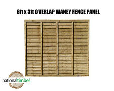 (Pack of 5) 6ft x 3ft Waney Lap Overlap Larch Lap Fence Panel