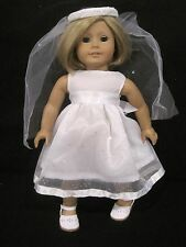 American girl doll dress for  first communion/Wedding or fancy dress up