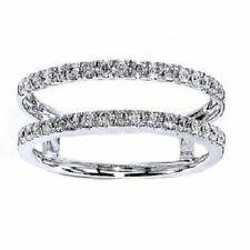 Ring Wrap Enhancer 925 Sterling Silver 1.65 Ct White Diamnd Enhancer Engagement