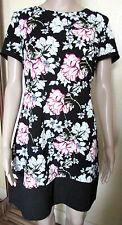 George Short Sleeve Floral Dresses Midi