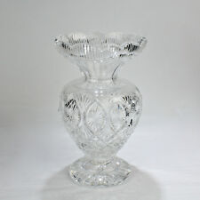 "Large 12"" Waterford Cut Crystal Master Cutter Vase - Glass - GL"