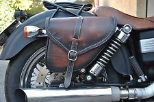 SADDLE BAG FOR HARLEY DAVIDSON DYNA STREETBOB WIDE GLIDE FAT BOB ITALIAN LEATHER