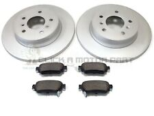 FOR NISSAN QASHQAI (J11) 2014-2019 REAR 2 BRAKE DISCS AND PADS SET