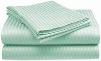 1000TC Egyptian Cotton SHEET SET Sateen Stripe Mint Green