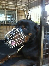 HEAVY DUTY DOG MUZZLE CONTROL WIRE STEEL METAL BASKET DOG LARGE  XL DOG TRAINING