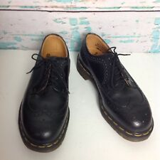 Dr Martens Docs Black 5 Eye Oxford Wingtip Shoes Mens 8 Womens 9 3989 England
