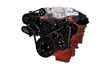 Black Diamond Chevy LSA and LS9 Serpentine Kit - AC & Power Steering