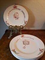 "Lot of 5 Antique Edwin M. Knowles China Co Semi Vitreous 7.5"" Bar Dessert Plates"