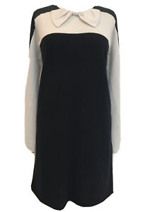 Designer Twin Set Simona Barbieri Wool Cashmere Blend Knitted Dress Black M