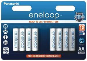 8 X Panasonic eneloop R6 Aa 2000 MAH BK-3MCCE Rechargeable Batteries
