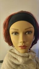 3/4  Wig With Black Headband Magic Touch Collection  Burgundy MT-515HB