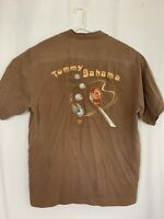 """Tommy Bahama mens embroidered golf camp shirt MEDIUM silk """"Ill Drive You Fly"""""""