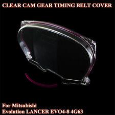 Clear Cam Pulley Timing Belt Cover For Mitsubishi Evolution Lancer EVO4-8 4G63