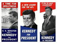 JOHN F. KENNEDY PRESIDENTIAL CAMPAIGN POSTERS 3 ON 1 PRINT  11X14 PHOTO (LG-076)