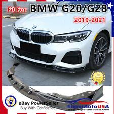 Fits 2019-2021 BMW 3 Series G20 M Sport Carbon Fiber Front Bumper Lip Spoiler