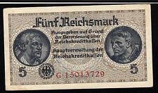 GERMANY BANKNOTE, 5 REICHSMARK , PIC#138B