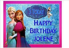 Disney Frozen Rice Paper Birthday Cake Topper! PINK