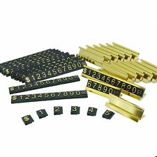 Golden Number Letter and Base Adjustable Price Display Counter Stand Tag Label