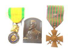 """CROIX DE GUERRE 1914   1917 """" medaille MILITAIRE 1870 PLAQUE DE RéCOMPENSE"""