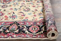One-of-Kind Antique All-Over Floral IVORY Kashmar Area Rug Hand-made Carpet 7x10