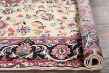 One-of-Kind Antique All-Over Floral IVORY Kashmar Area Rug Hand-made Carpet 7x10