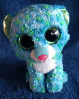 *1911a*  TY Beanie Boos Leona the leopard - sparkling green eyes - plush - 14cm