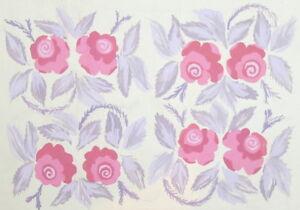 Vintage gouache painting pattern