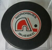 1975-78 NORDIQUES QUEBEC AMH VINTAGE WHA OLD OFFICIAL GAME PUCK MADE IN CANADA