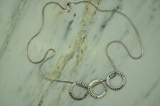"19"" 925 STERLING SILVER CHAIN NECKLACE BELIEVE PARTYLITE LEADERSHIP CHARMS#13283"