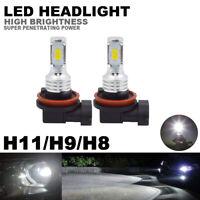 6000K H8 H9 H11 LED Headlight Bulb High Low Beam Fog Light Replacement Kit Bulbs