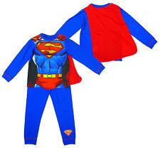 BNWT Chicos Oficial Superman Músculo Cuerpo Novedad vestir Pijamas Capa Talla 2-3 años