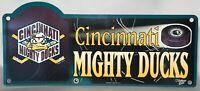 Vintage Cincinnati Mighty Ducks AHL Plastic Licence Plate Plaque WinCraft Sports