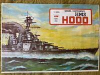 """GENUINE PAPER-CARD MODEL KIT -HMS """"Hood"""""""