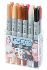 COPIC CIAO PENS - 12 SKIN TONE COLOUR SET - GRAPHIC ART MARKERS- FAST SHIPPING