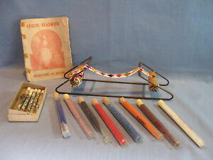 RARE VINTAGE APACHE BEADWORK LOOM KIT, HAS INSTRUCTIONS, BEADS & STARTED PROJECT