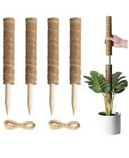 4 Pc 15.8� Totem Pole Moss Sticks for Plants Climbing Creep with Ties New In Box