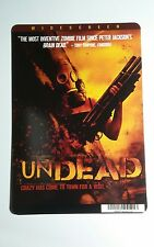 UNDEAD GUN AND MASK COVER ART MINI POSTER BACKER CARD (NOT a movie dvd )