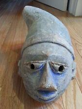 antique African Gelede MASK Nigeria Benin yoruba tribal helmet primitive art vtg