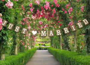 Just Married Wedding Bunting Cardboard Wedding Decoration - 6 Styles - UK SELLER