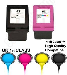 2 Remanufactured hp62 BK&C High Quality Inkjet Cartridges hp nonoriginal