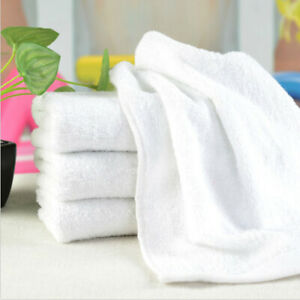 5X Cotton Towels Bath Sheets Soft Towels Hotel SPA White Washcloths Home Travel