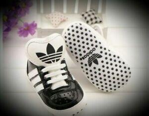 Baby Boys/ Girls Soft Bottom Anti-Slip Adidas Crib Shoe, Not in original box
