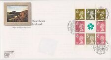 GB ROYAL MAIL FDC COVER 1994 PRESTIGE PANE NORTHERN IRELAND BELFAST PMK STICKER