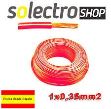 3m CABLE 1X0.35 FLEXIBLE UNIPOLAR  H05V-K PVC Arduino Power LED - 0,35mm² rojo