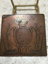 PLAQUE GRAVURE 17eme 17th CENTURY ARMORIAL ENGRAVING PLATE