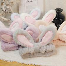 Fashion Korean Women Girls Cute Rabbit Ears Face Makeup Hairband  Headband