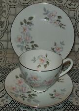 VINTAGE ROYAL ADDERLEY - RIDGWAY POTTERIES 'Silver Rose' TRIO England