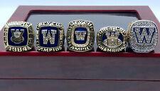 5 Pcs 1962 1984 1988 1990 2019 Winnipeg Blue Bombers Grey Cup Championship ring