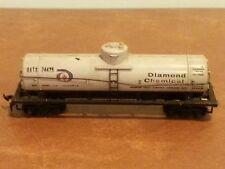 Vintage Model Toy Railroad Train Car Diamond Chemical Tank