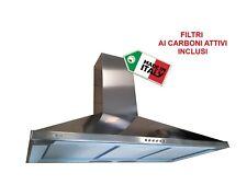 CAPPA CUCINA acciao INOX 100cm a parete ASPIRANTE FILTRANTE RICIRCOLO 455m³/h